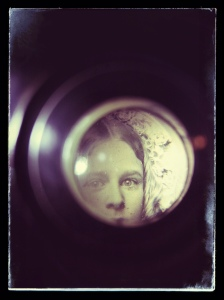 looking through the magnifier