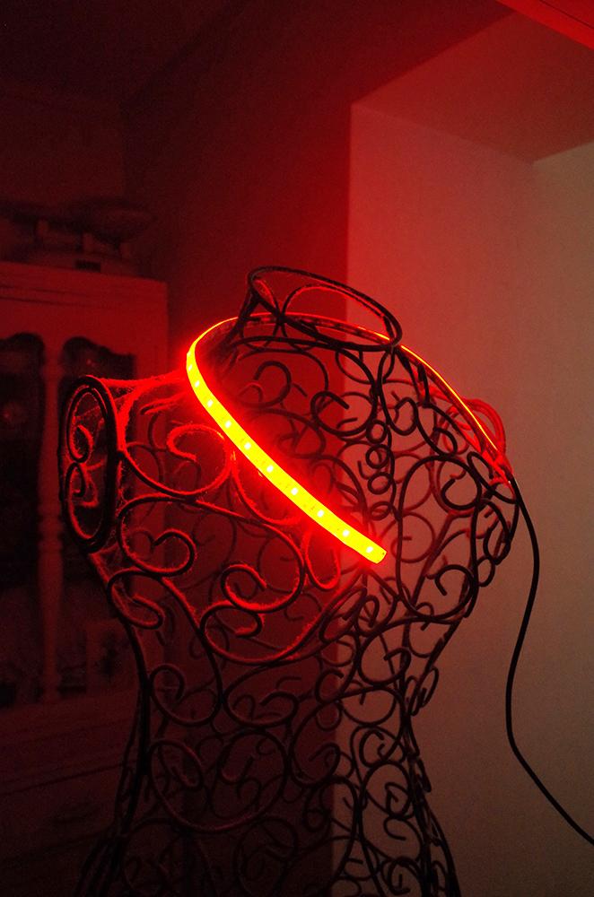 LED safe light in a dark room...